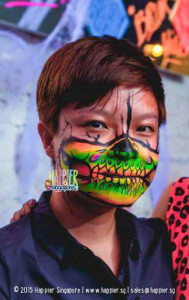 Halloween-Glow-Half-Skull-Arm-Painting-Singapore-189x300
