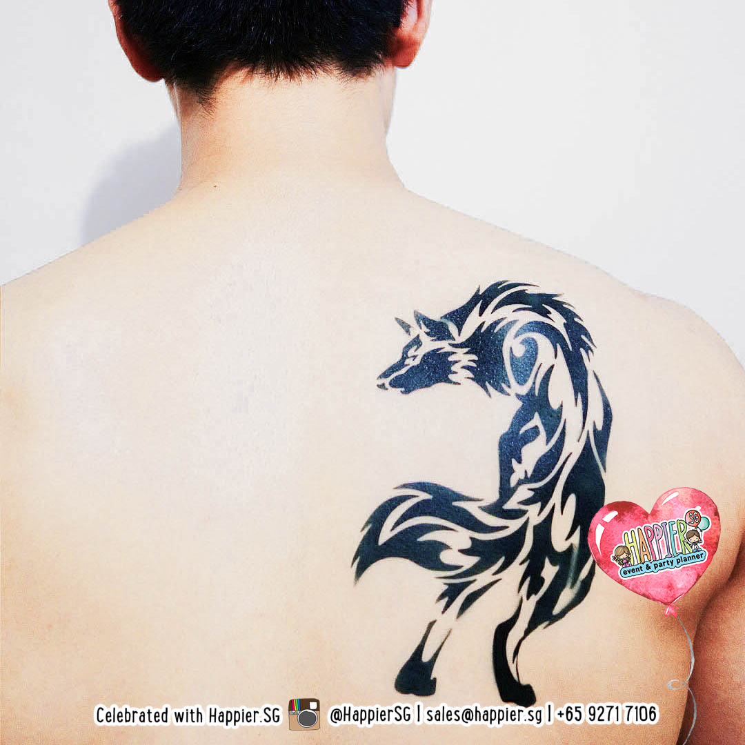 Airbrush Tattoo Service Custom Temporary Tattoo For Adults