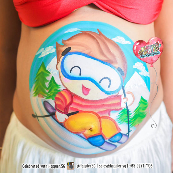 Baby Bump Belly Painting Makeup Artist