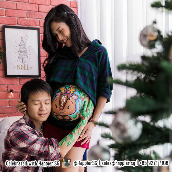 Belly painting maternity photo shoot singapore
