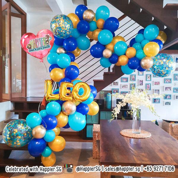 Boys birthday party balloon decoration