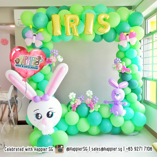 Bunny Rabbit Photo Frame Balloon Decoration