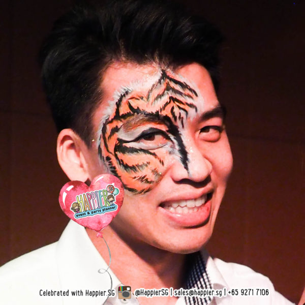 Tiger Cat Face Paint Makeup Artist