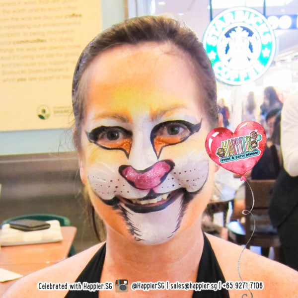 Lion Cat Face Paint Makeup Artist