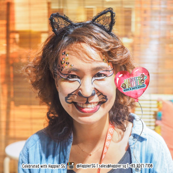 Leopard Cat Face Paint Makeup Artist