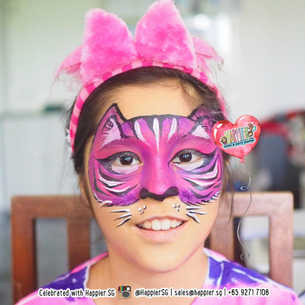 Cheshire Cat Face Paint Makeup Artist