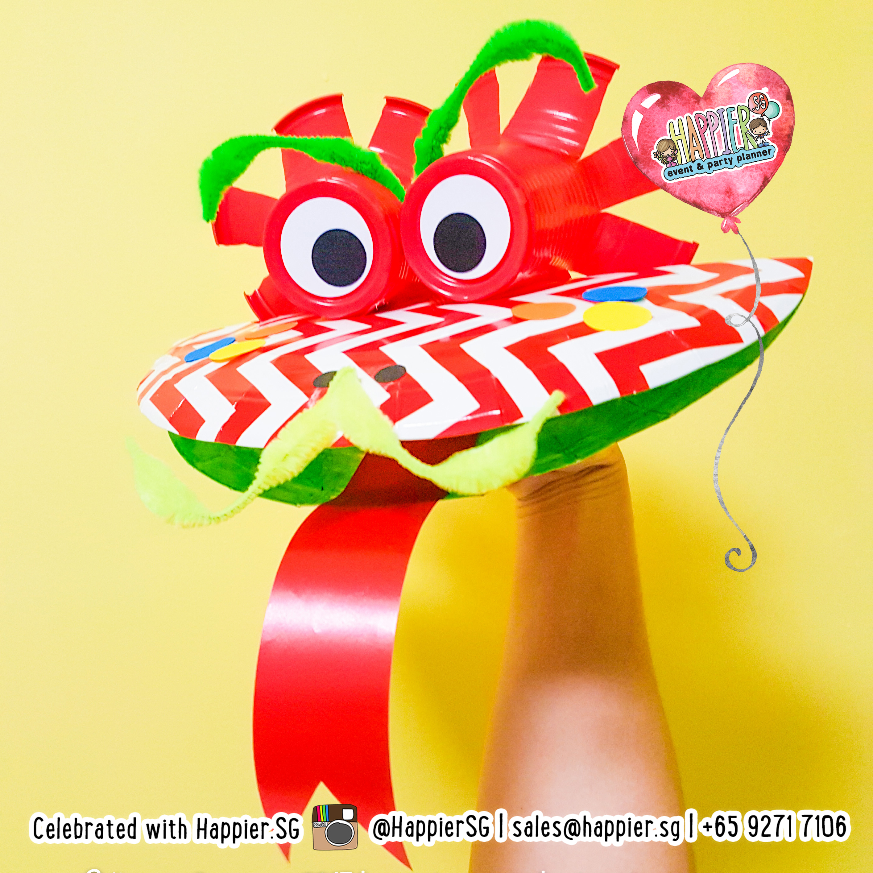 Chinese New Year Craft Activities   Dragon Puppet Making