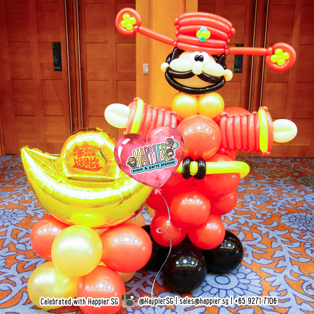 Chinese New Year Balloon Decoration | Happier Singapore