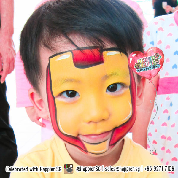 Face Painting Singapore Iron Man Superhero