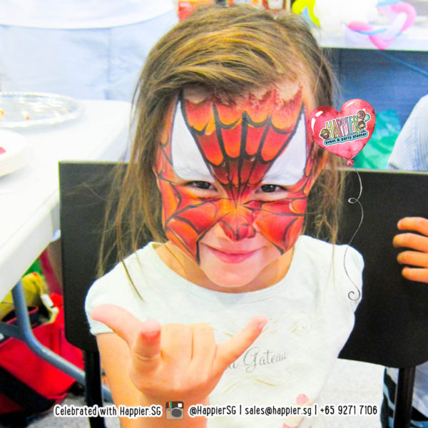 Face Painting Singapore Spiderman Superhero 2