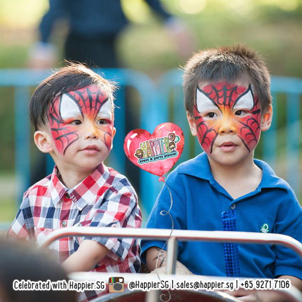 Face Painting Singapore Spiderman Superhero 3