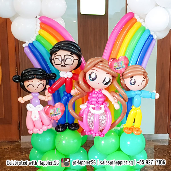 Family Day Balloon Decoration