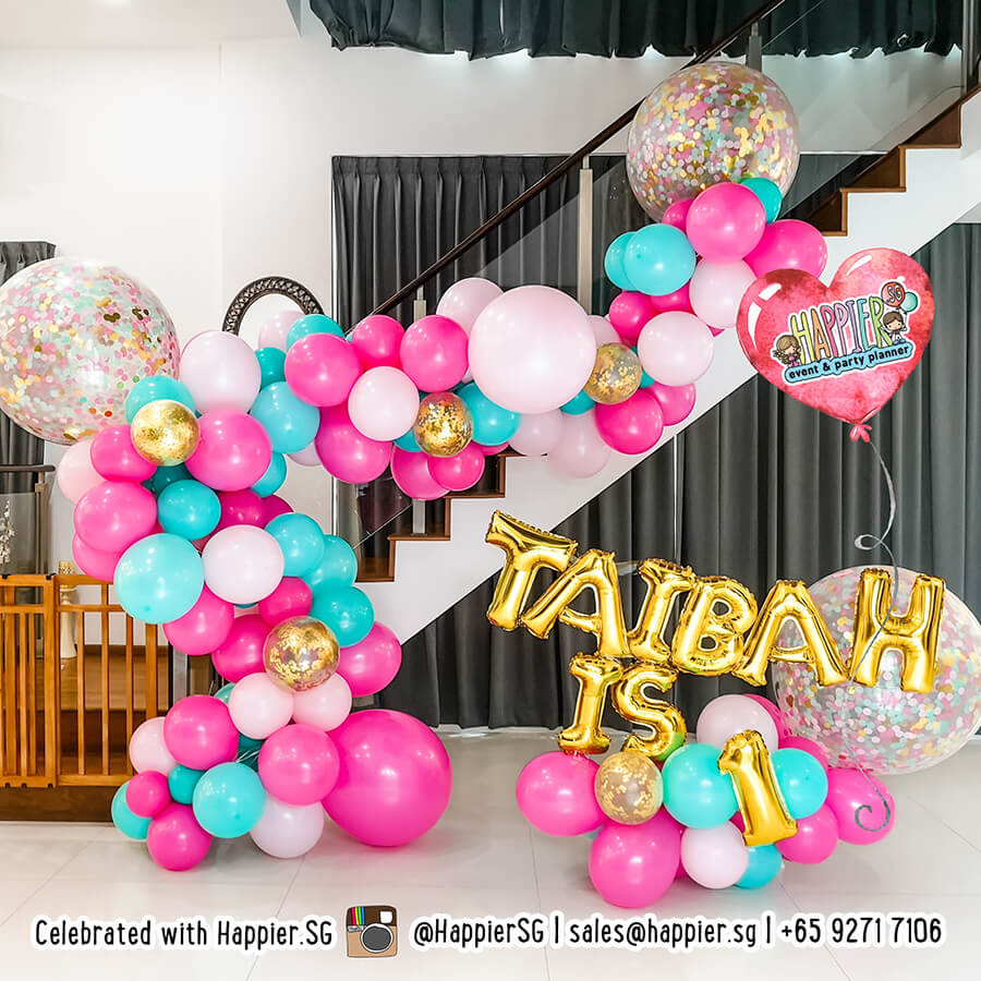 Girl 1st Birthday Party Decorations Happier Singapore