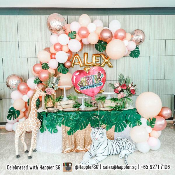 Girl birthday party balloon decoration