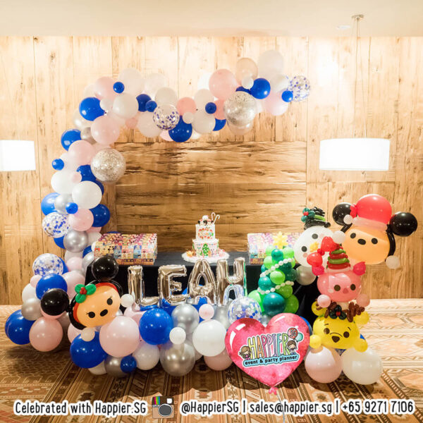 Girls 1st Birthday Party Balloon Decoration