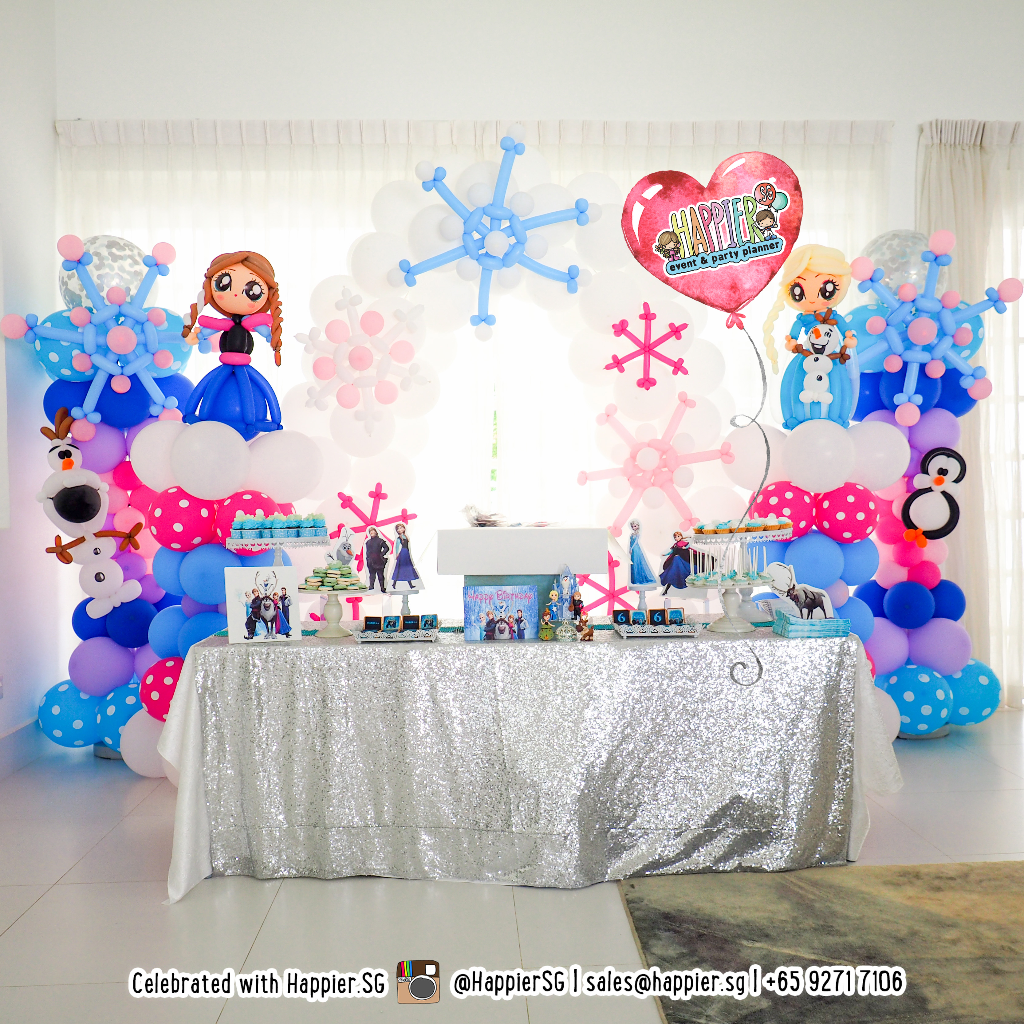 Girls Birthday Balloon Decoration 1
