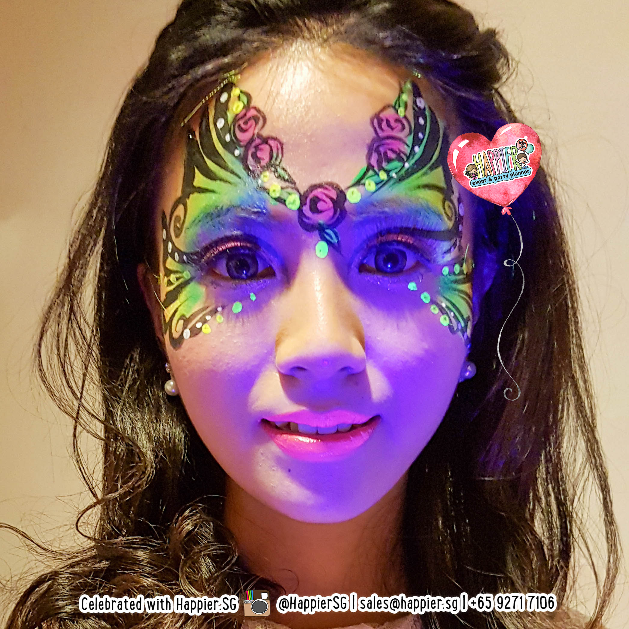 Glow In The Dark Uv Face Body Painting Happier Singapore
