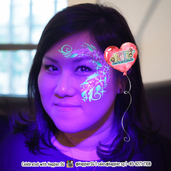 Glow in the Dark UV Face Painting