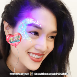 Glow in the Dark UV Glitter Festival Makeup