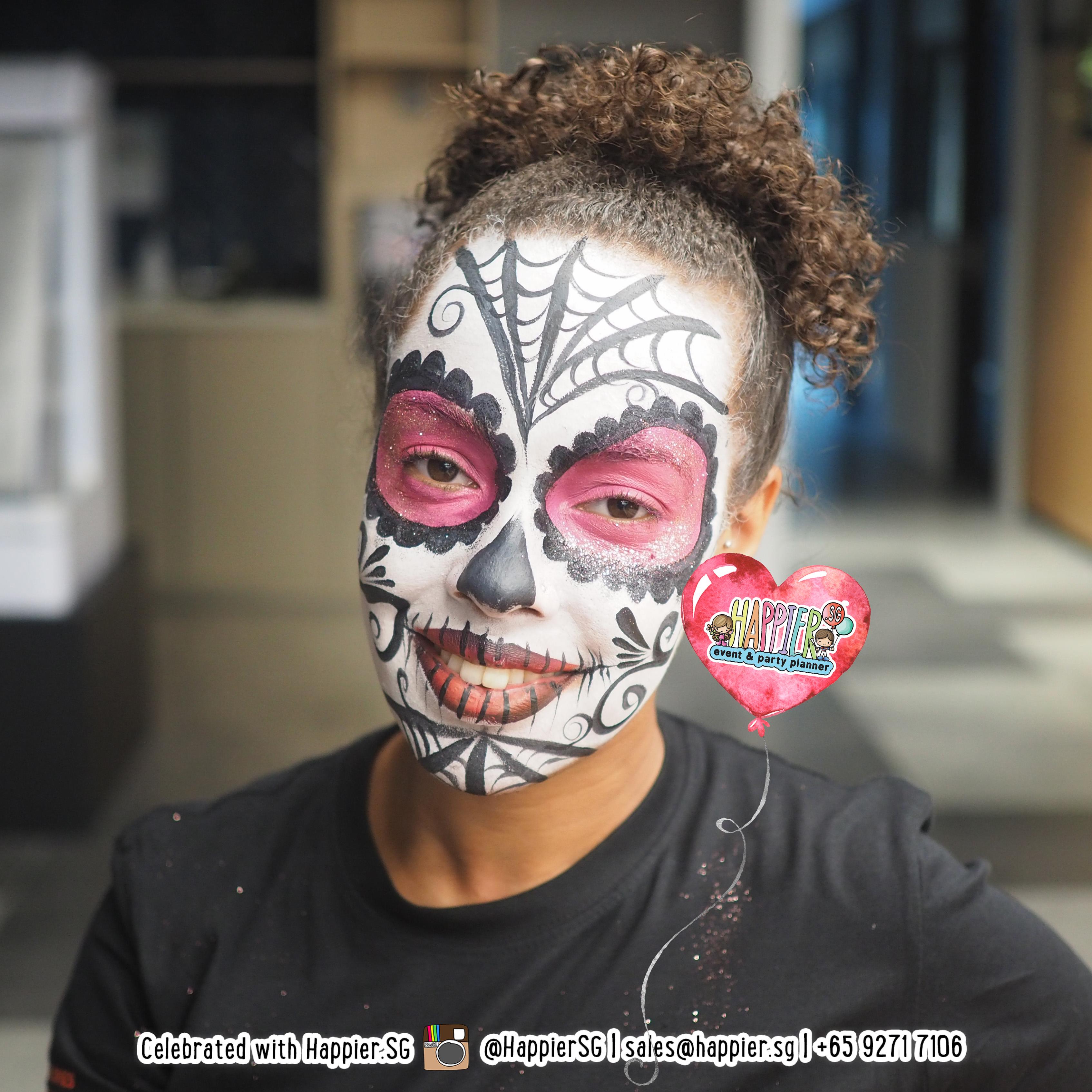 Halloween Feest.Halloween Makeup Artist Special Effects Face Paint Happier Singapore
