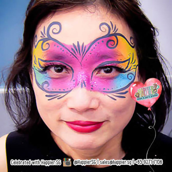Masquerade Mask Face Paint Makeup Artist