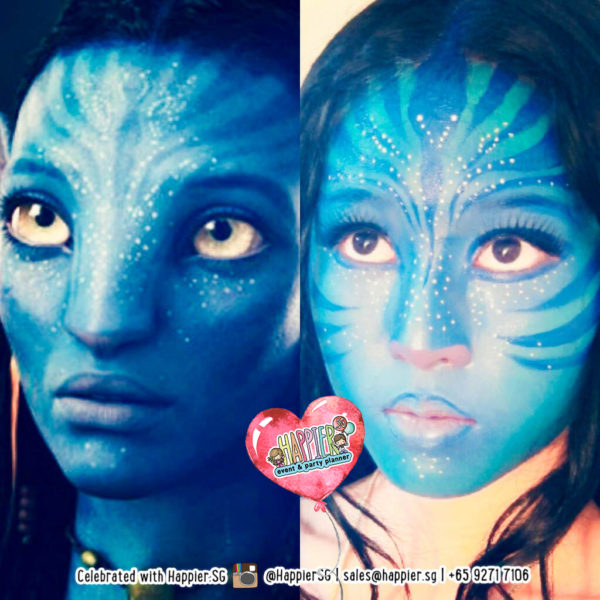 Avatar Face Paint Makeup Artist