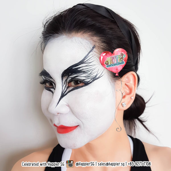 Black Swan Face Paint Makeup Artist