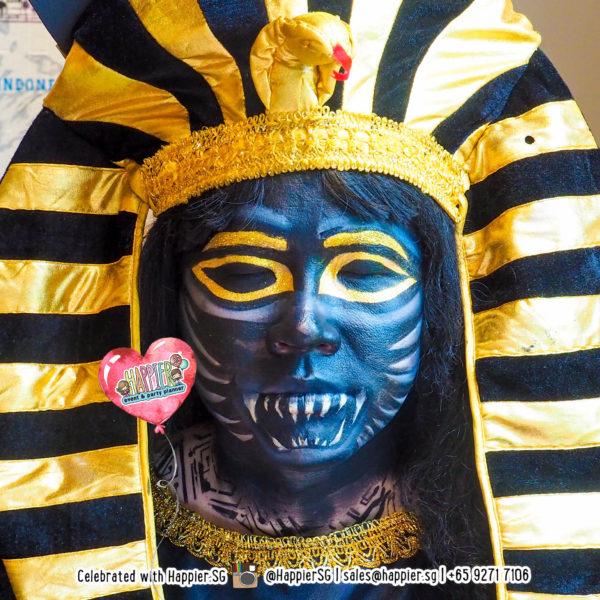 Anubis Face Paint Makeup Artist