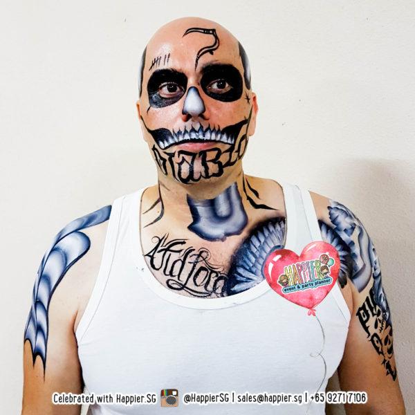 Diablo Suicide Squad Face Paint Makeup Artist
