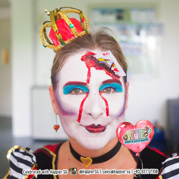 Queen of Hearts Face Paint Makeup Artist