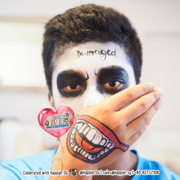 Joker Suicide Squad Face Paint Makeup Artist