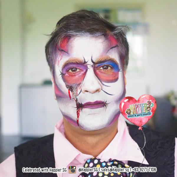 Mad Hatter Face Paint Makeup Artist