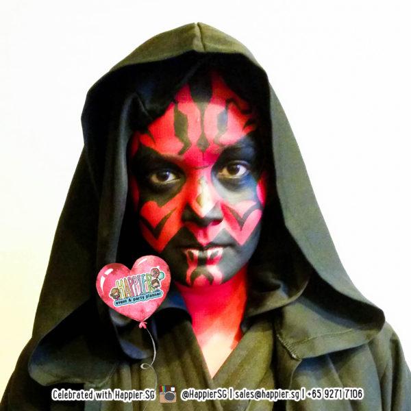 Darth Maul Star Wars Face Paint Makeup Artist