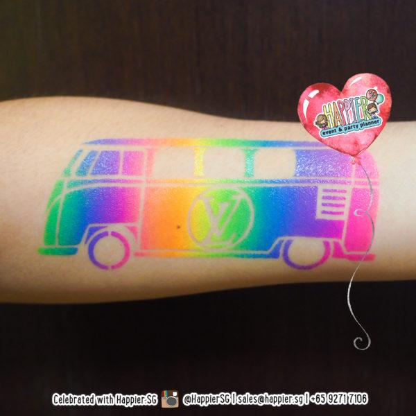 Neon Temporary Tattoo