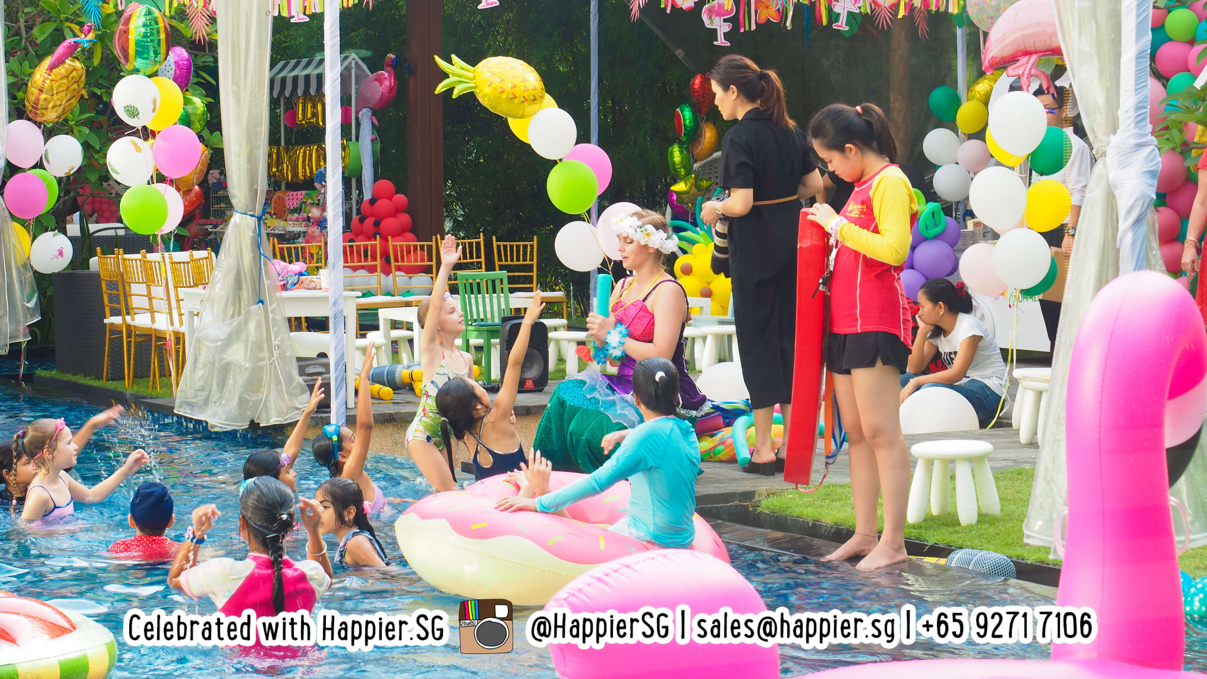 kids pool party games | pool party singapore