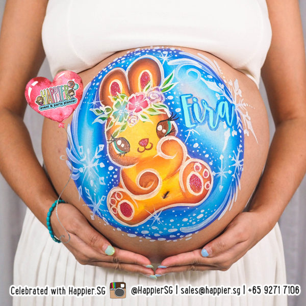 Pregnant-belly-painting-for-baby-girl