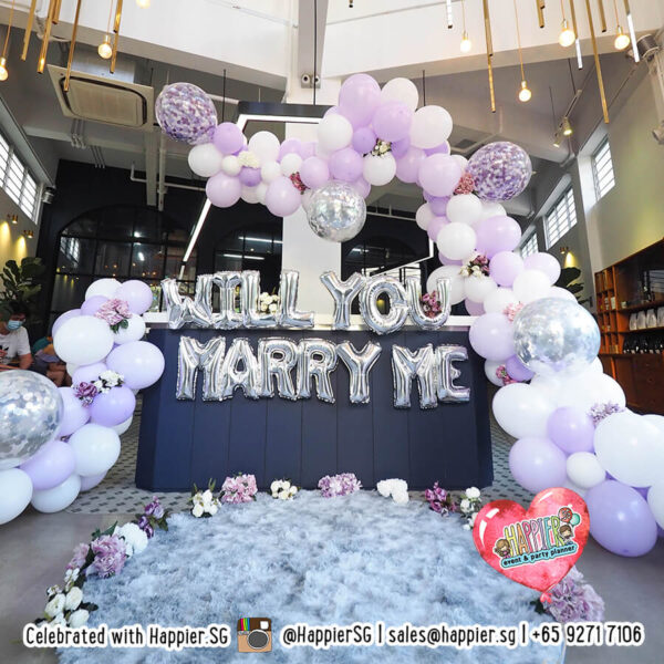 Wedding Proposal Decoration Marry Me Balloons