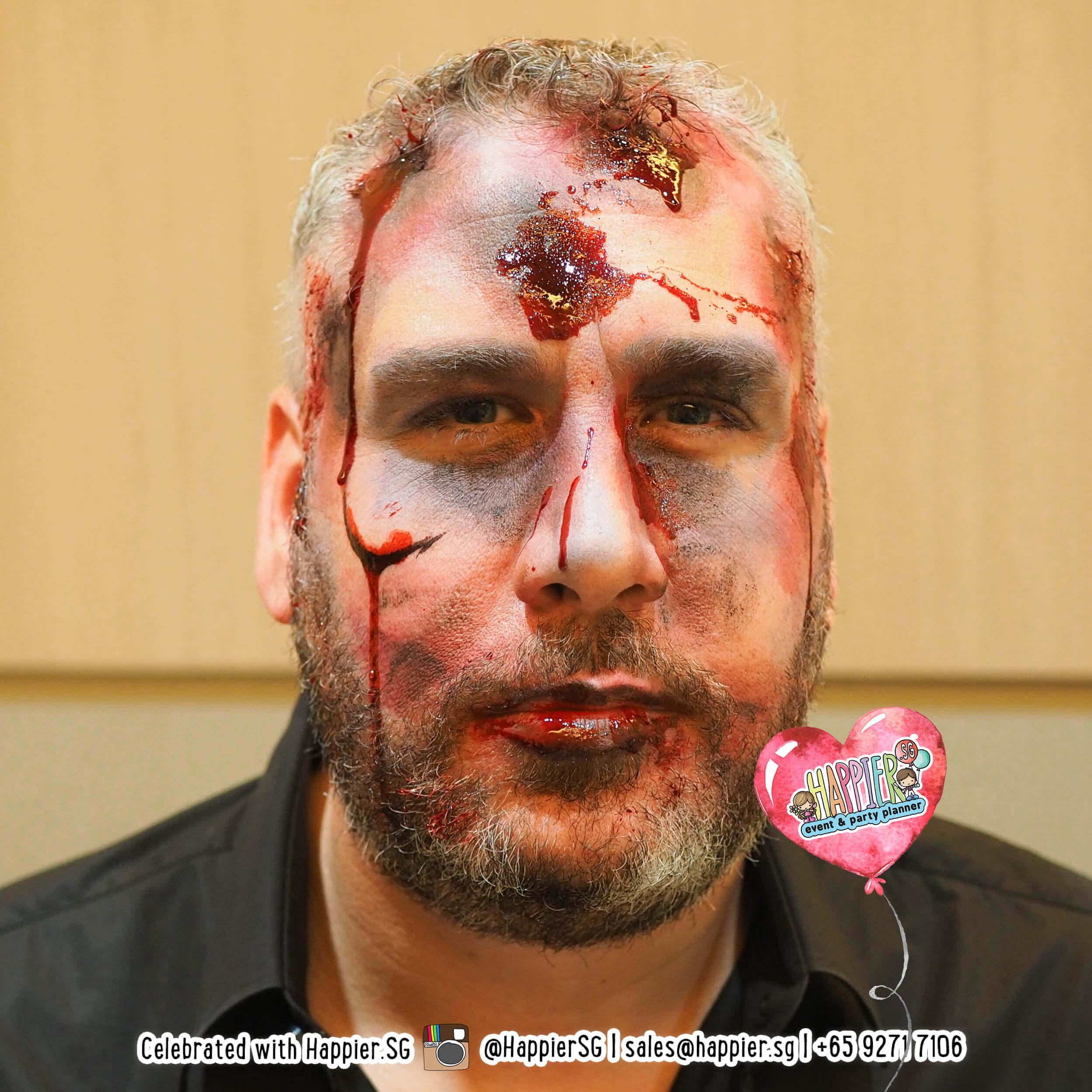 Paint Booth Rental >> Zombie Face Paint Makeup Artist | Happier Singapore