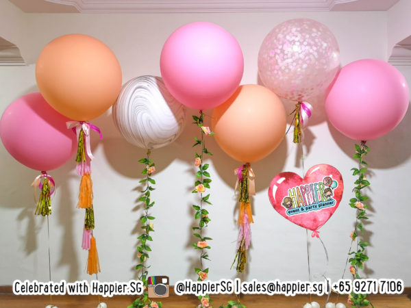 Floral Giant Helium Balloons