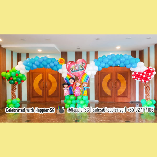 Family-day-balloon-arch-decoration