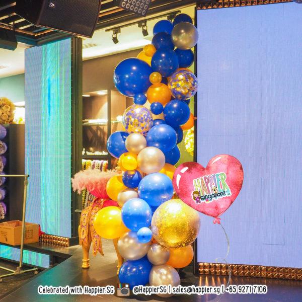 His Organic Balloon Garland Decoration