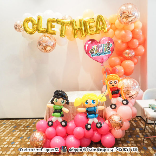 Powerpuff girls organic balloon garland