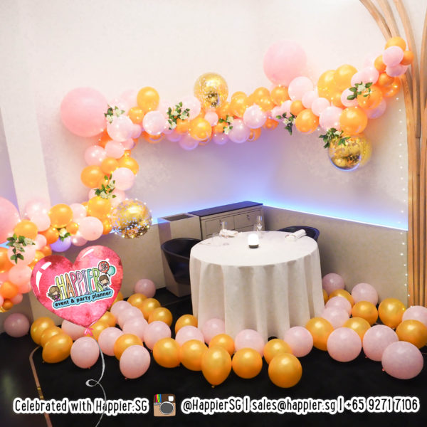 Proposal organic balloon garland