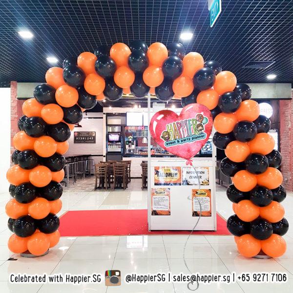 Striped balloon arch