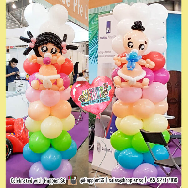 Baby-shower-balloon-columns-pillars