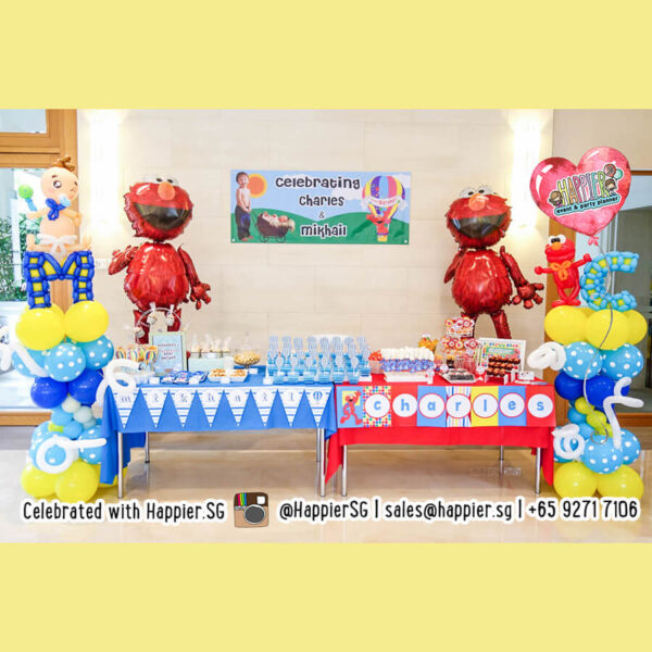 Baby shower balloon columns pillars