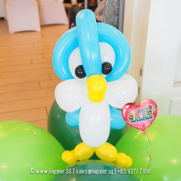Bird-balloon-column-decoration