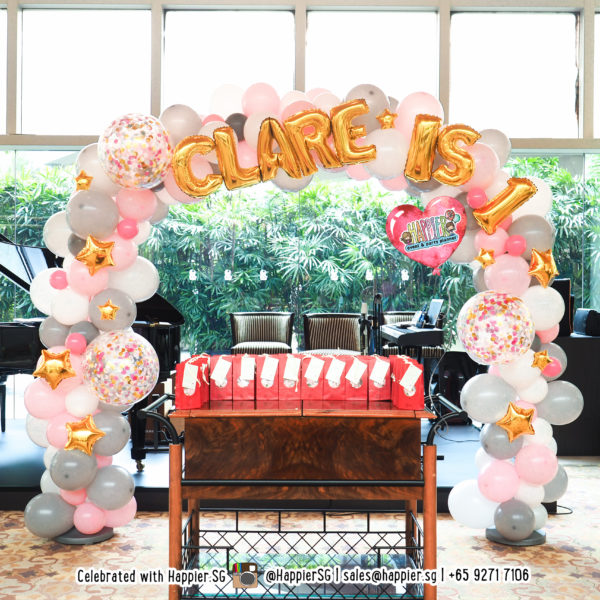 Birthday Balloon Arch Backdrop Decoration