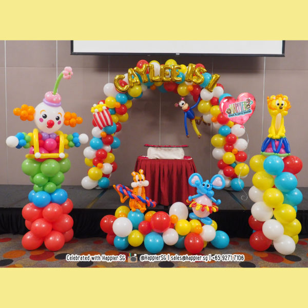 Carnival balloon arch and landscape decoration
