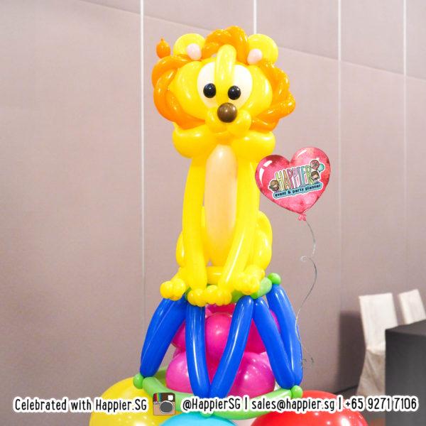 Carnival-circus-lion-balloon-sculpture-decoration